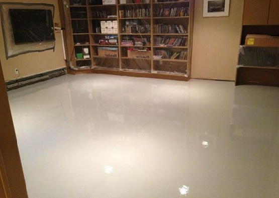 Basement floor epoxy and sealer flooring ideas floor for Basement flooring ideas pictures