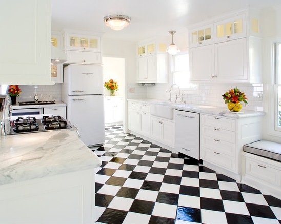 black and white linoleum kitchen flooring with white cabinet set monochrome bedroom