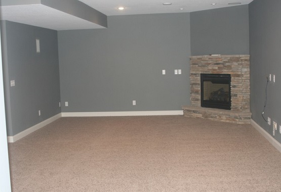 Brown carpet for cheap basement flooring option