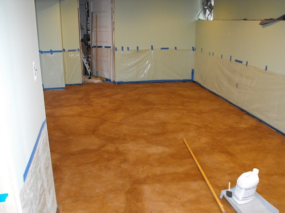 Concrete Stain For Cheap Basement Flooring