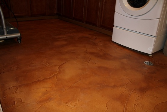 Sealed Concrete Flooring : Decorative sealed concrete waterproof basement flooring