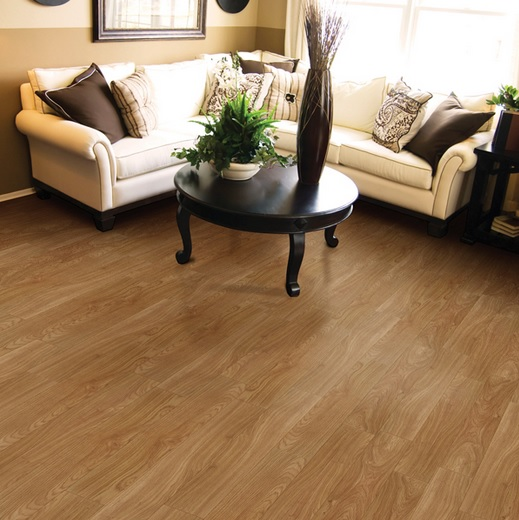Harvest oak laminate flooring living room