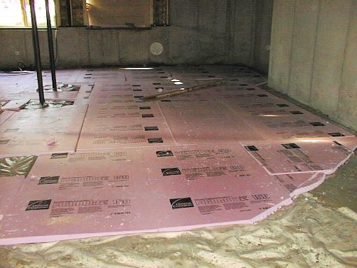 How to install insulating basement floor flooring ideas for Insulated concrete foam