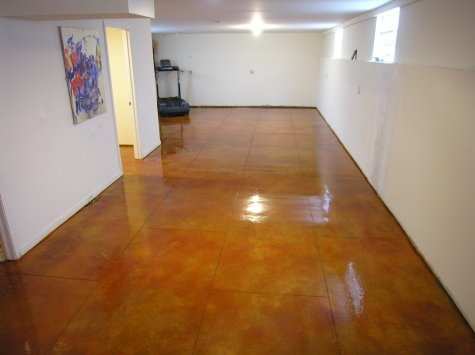 Solvent-based sealer basement floor epoxy