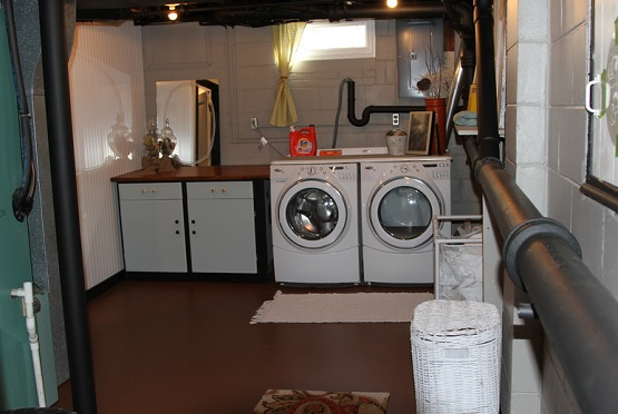 Basement laundry room flooring paint