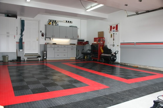 Coin Flex Rubber Garage Floor Tiles Flooring Ideas