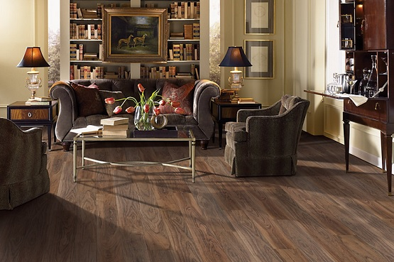 Dark Waterproof Vinyl Plank Flooring For Living Room