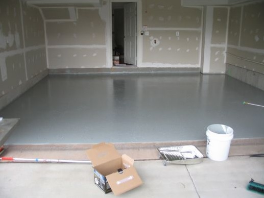 Epoxy sealing garage floor diy