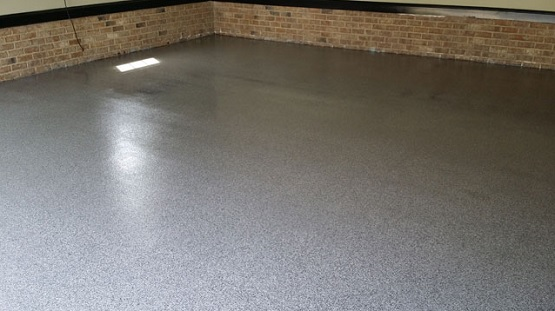 Granite epoxy sealing garage floor