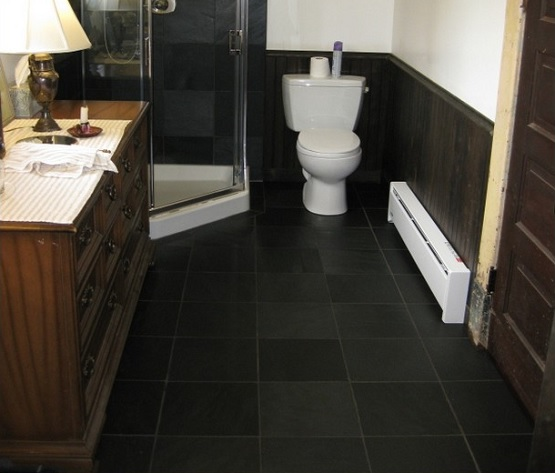 Grey slate bathroom floor option
