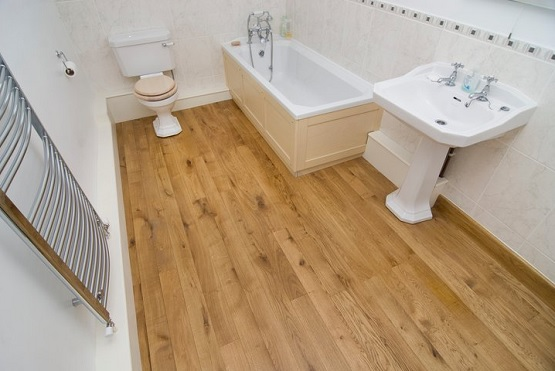 Natural Light Laminate Flooring For Bathroom