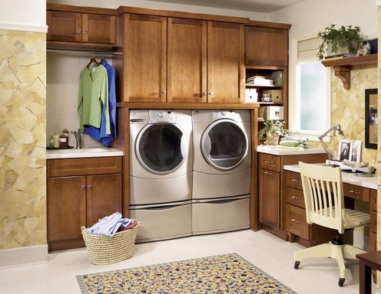 Simple square laundry room rugs and mats
