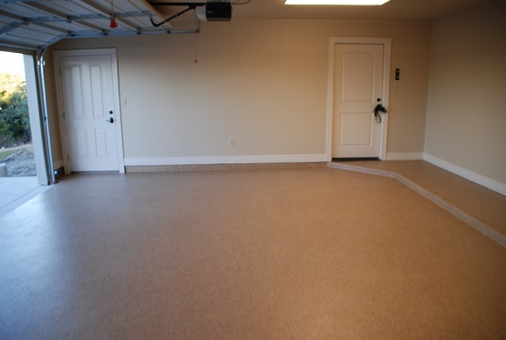 Tan Epoxy Painted Garage Floor Ideas Flooring Ideas Floor Design Trends