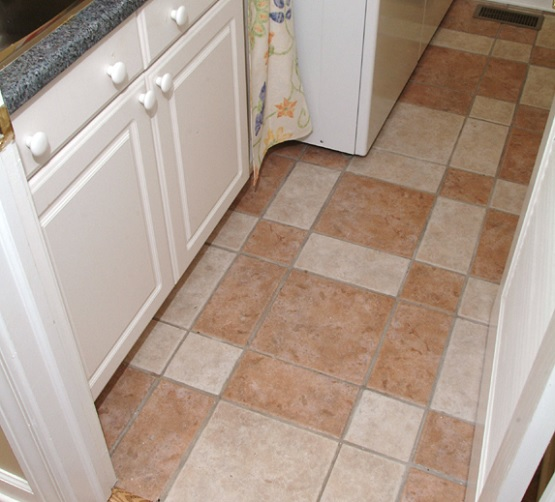 Various tone and size procelain tile for laundry room