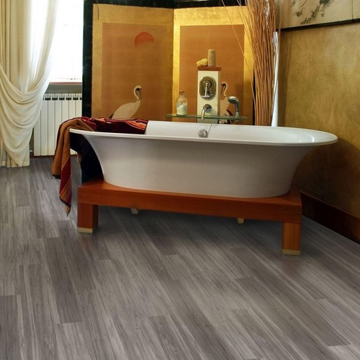 Waterproof vinyl plank flooring for bathroom