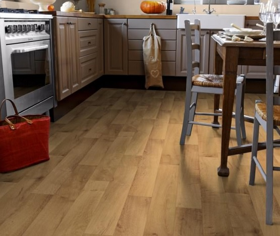Wood effect vinyl flooring for kitchen