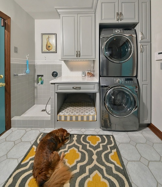 yellow pattern laundry room rugs and mats flooring ideas floor design trends. Black Bedroom Furniture Sets. Home Design Ideas