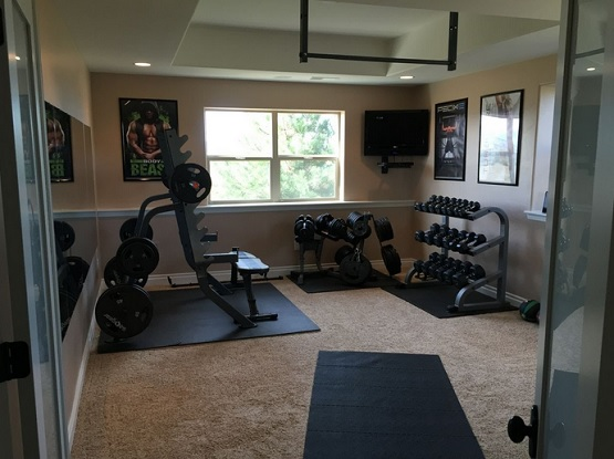 Best home gym flooring over carpet design