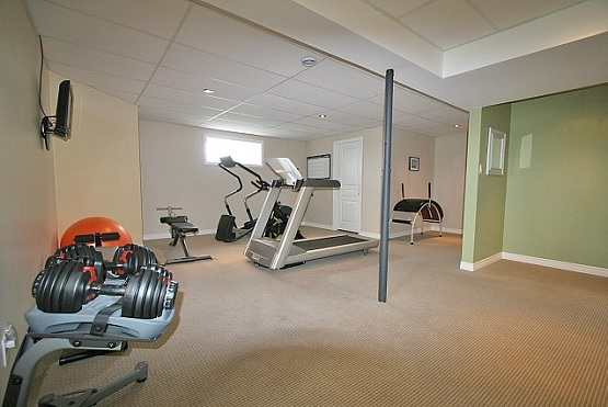 Brown Carpet Basement Gym Flooring Flooring Ideas