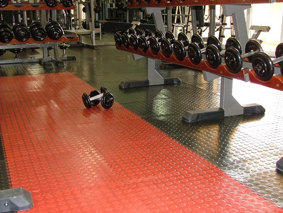 Coin rubber flooring for home gym