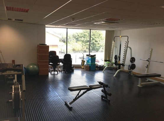 Real rubber home gym flooring options