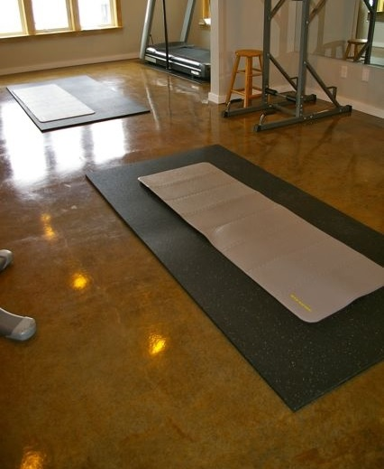 Rubber mats home gym floor mats for exercise area