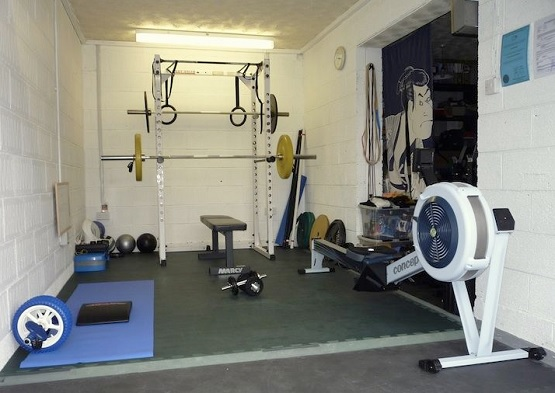 Small exercise room flooring design