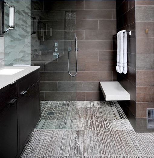 Contemporary tiles for small bathroom floor tile