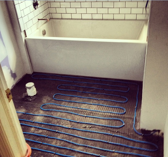 Installing Heated Bathroom Floors