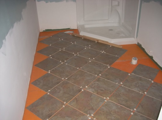 Bon Retile Bathroom Floor With Brown Tile