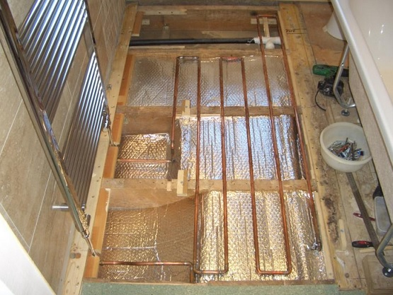 Underfloor heating bathroom floors