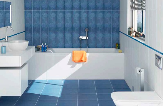 blue and white bathroom floor tiles white and blue small bathroom floor tile combination 25165