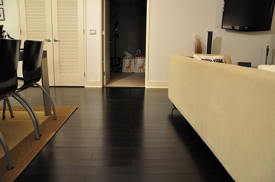 Black bamboo flooring design and installation black bamboo flooring for contemporary home design