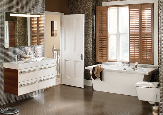 Brown Rubber Waterproof Bathroom Flooring Flooring Ideas Floor Design Trends