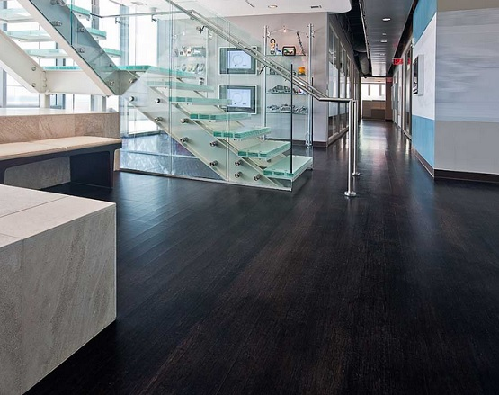 Elegant black bamboo flooring ideas