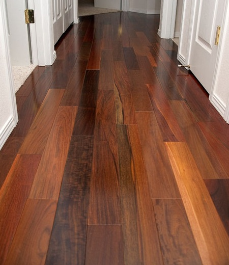 Brazilian walnut flooring for clean and beautiful hallway