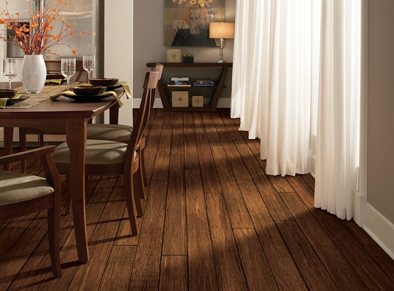 Stain bamboo flooring for dining room