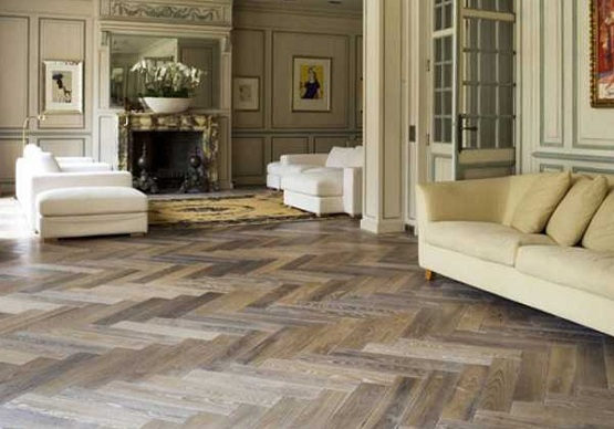 Light Brown Reclaimed Parquet Flooring Ideas