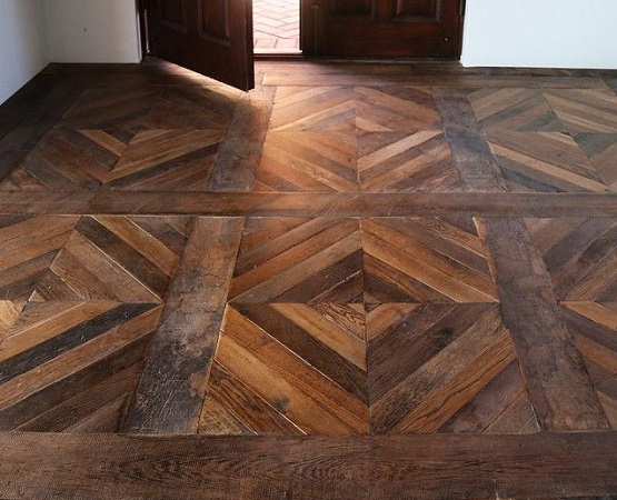 Refinishing melezin pattern parquet flooring