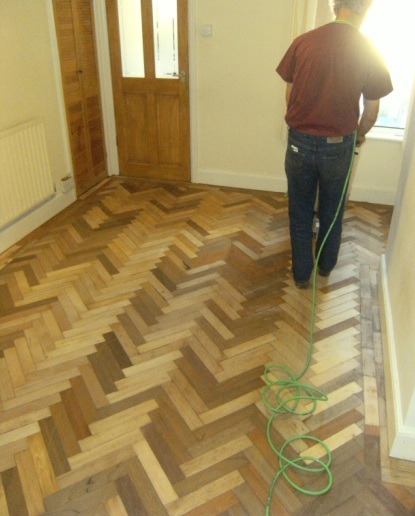 Refinishing parquet flooring Diy