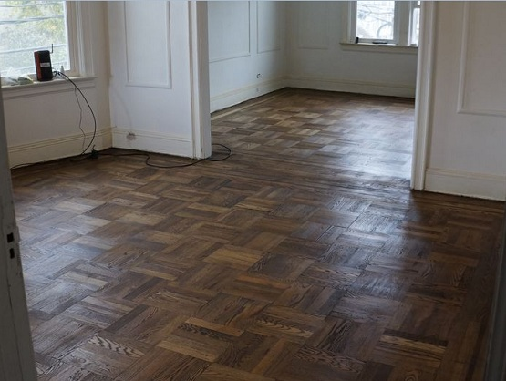 refinishing parquet flooring to look more presentable flooring ideas floor design trends. Black Bedroom Furniture Sets. Home Design Ideas