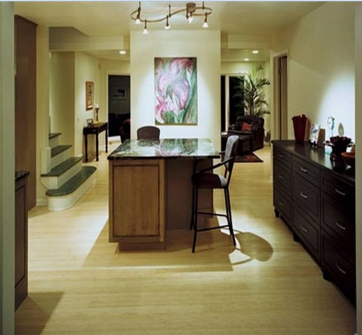 White bamboo flooring on luxury interior design
