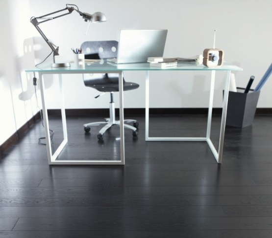 Black Laminate Flooring In Small Home Office