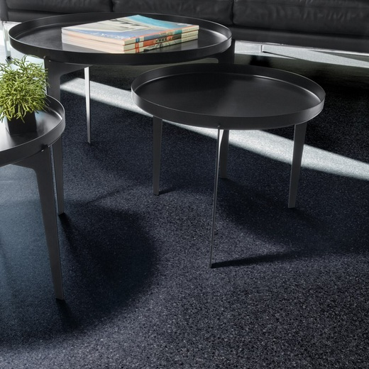 Black vinyl flooring with sparkle for small dining room