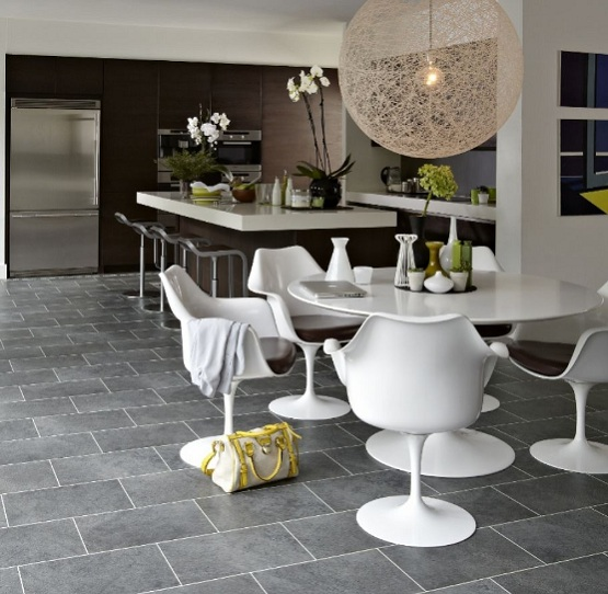 Limestone floor tiles unique and stylish flooring in your for Dining room flooring