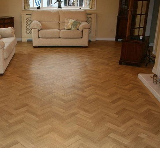Maple wood block flooring for living room