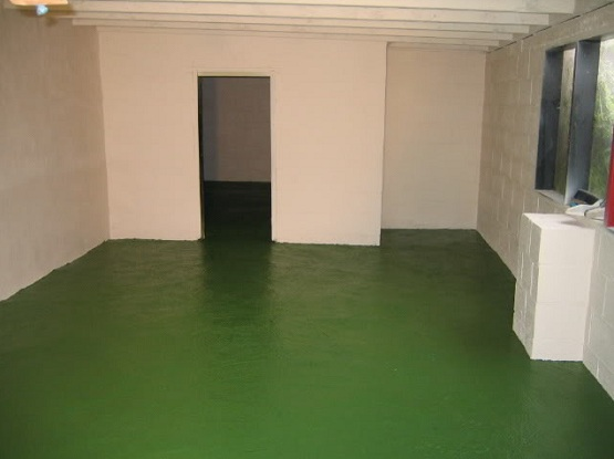 Dark green floor paint ideas for garage flooring