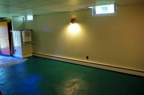 Green floor paint ideas for basement flooring