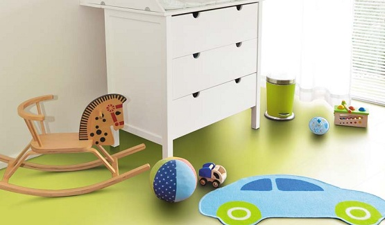 Green floor paint ideas for kid playroom