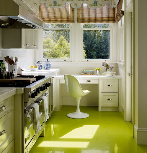 Green floor paint ideas for small kitchen